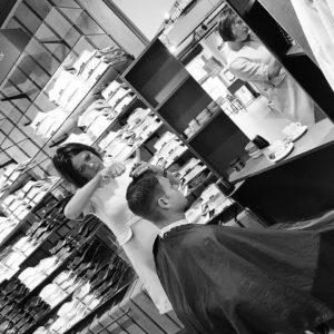female barber Haarmode Manowi